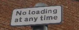 No loading at any time plate