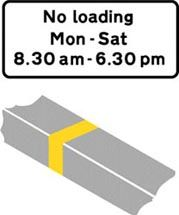 Single Kerb Marking Illustration